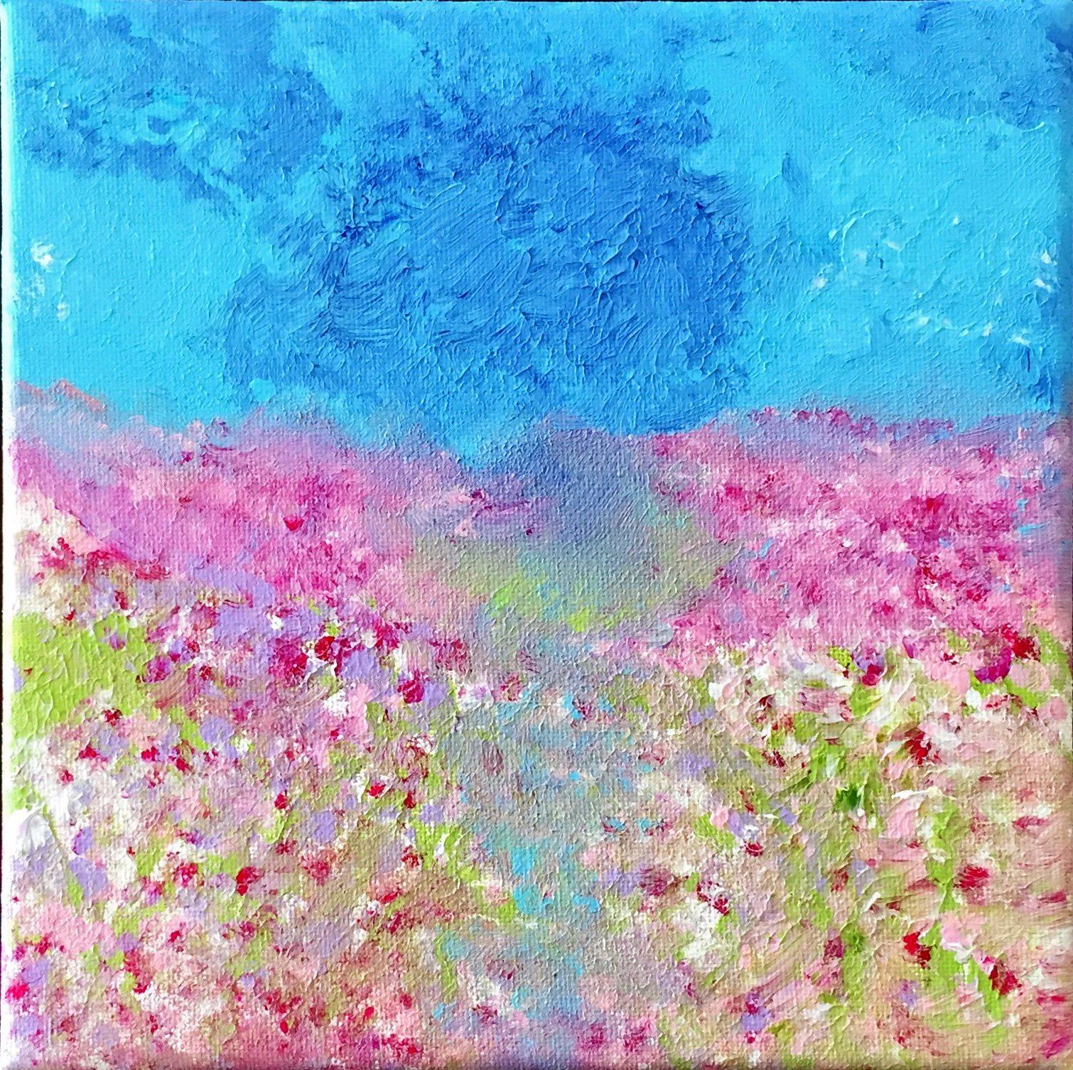 Bild Malerei Kunstwerk SoulArtist Julia Merkt Blumenmeer Blumenwiese