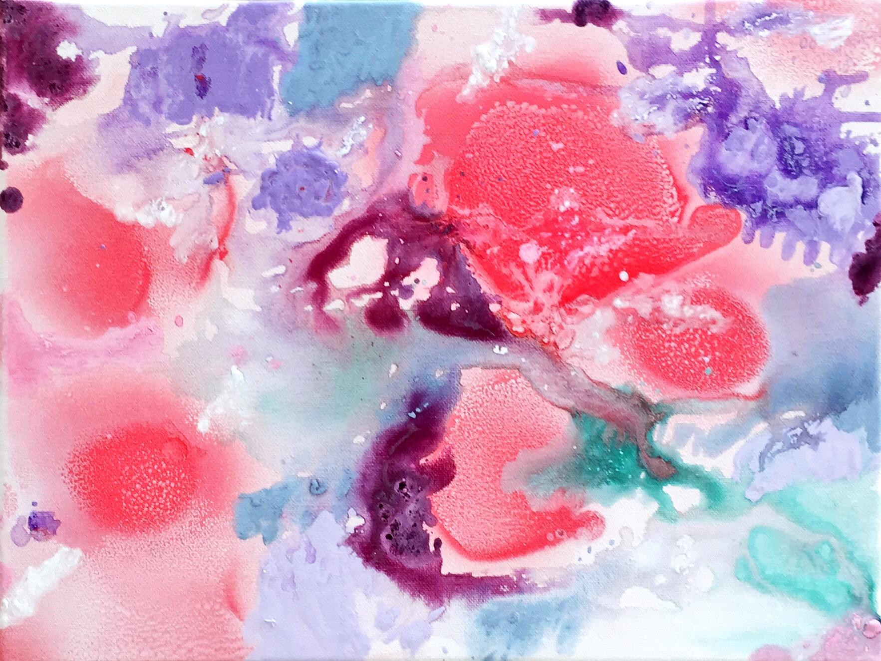 Bild Malerei Kunstwerk SoulArtist Julia Merkt Blumenmeer