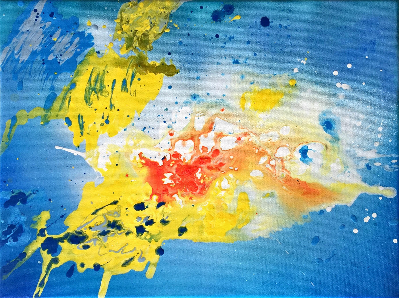 Bild Malerei Kunstwerk SoulArtist Julia Merkt Neue Welten