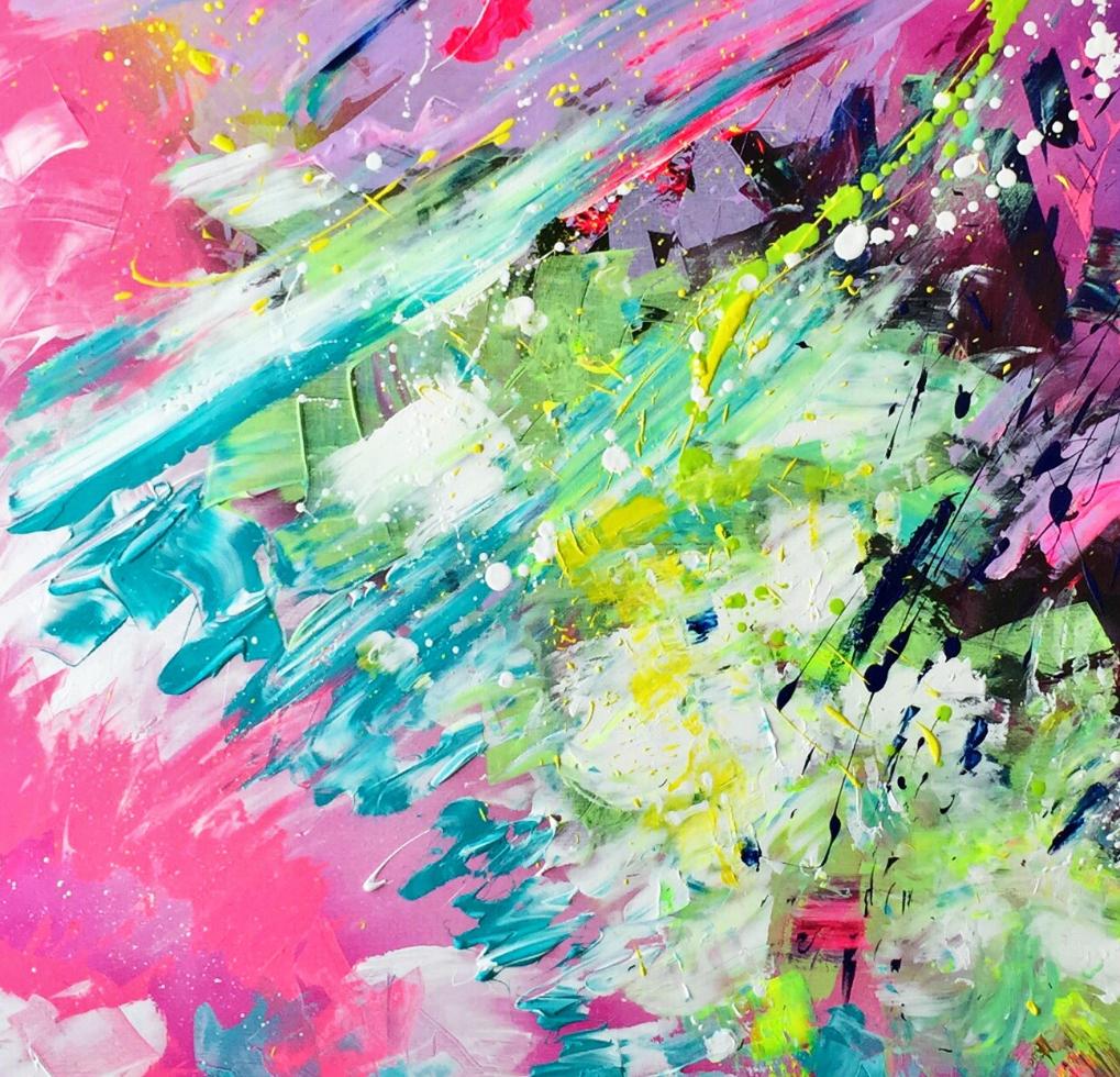 SoulArtist Acryl Graffiti Malerei Bild auf Leinwand Julia Merkt