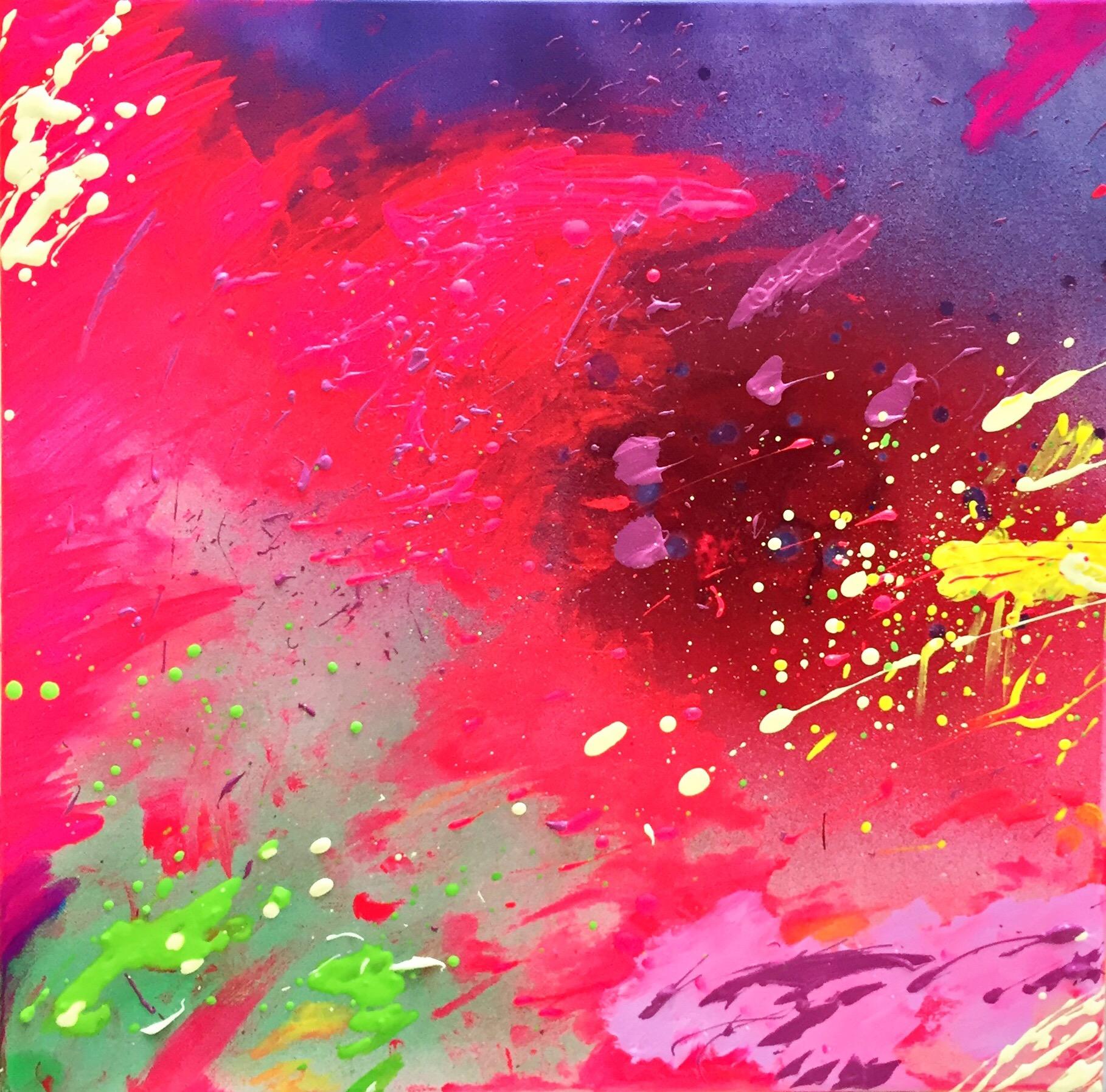 SoulArtist Acryl Graffiti Malerei Bild auf Leinwand Julia Merkt Neue Welten Tanz der Emotionen