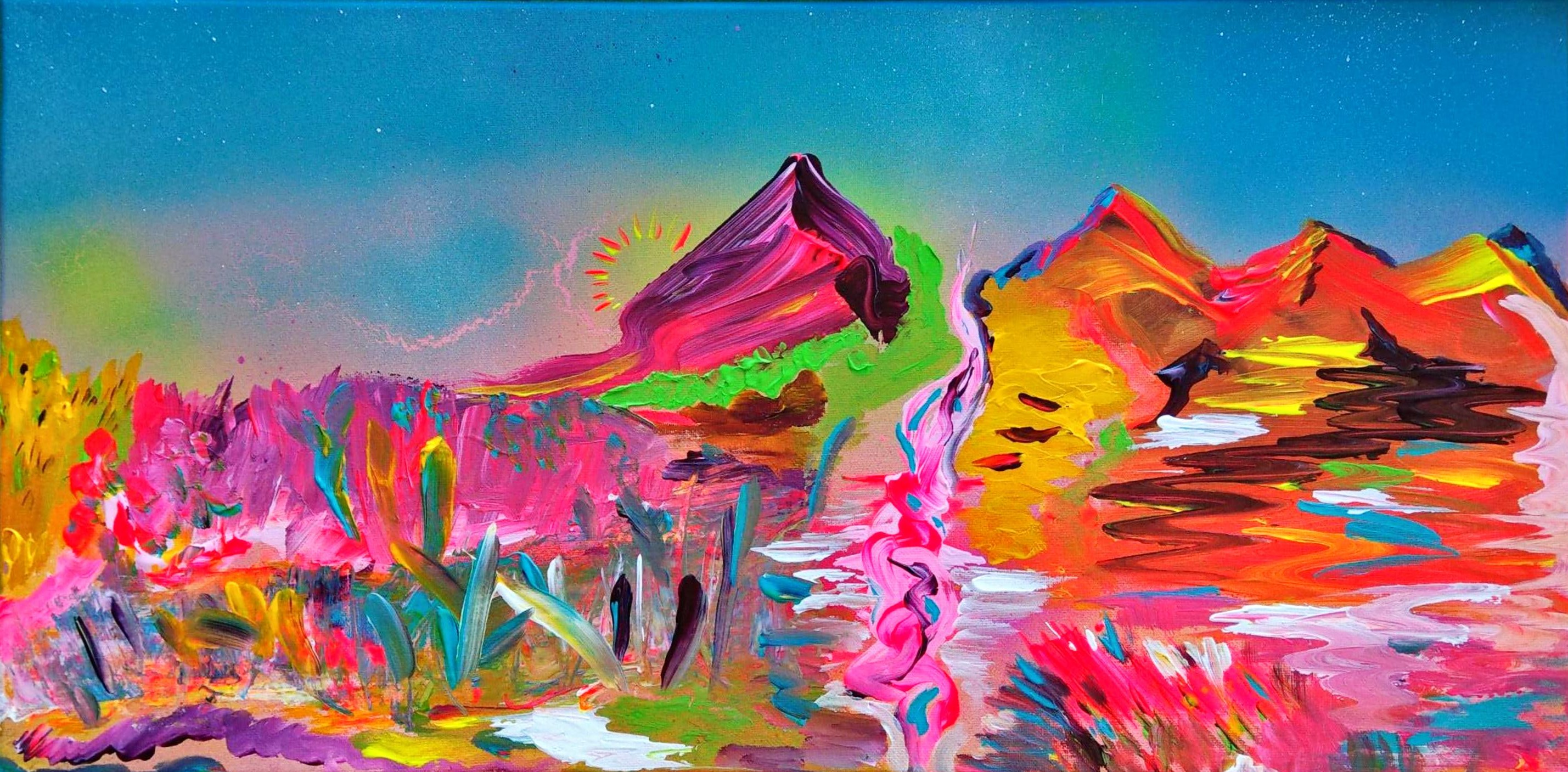 Bild MAGIC MOUNTAIN Acrylmalerei auf Leinwand Seele Michael Lubomirski