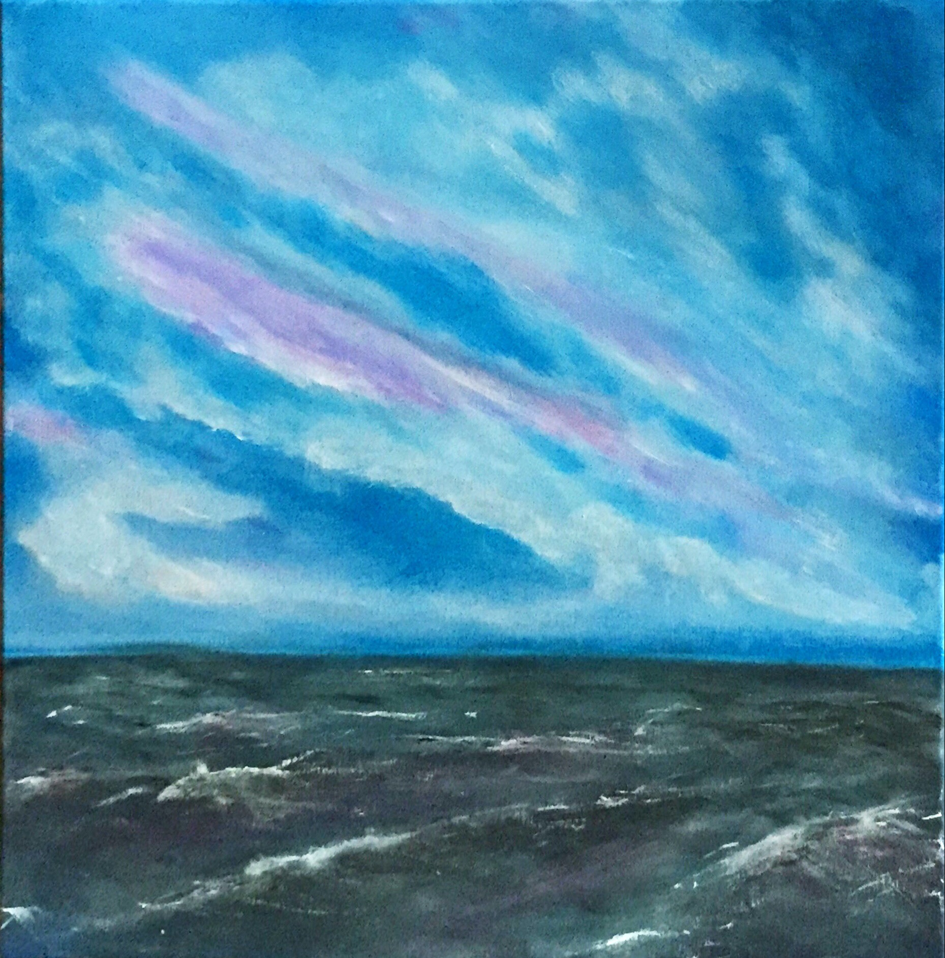 SoulArtist Michael Lubomirski Acrylmalerei Sonnenuntergang auf Leinwand
